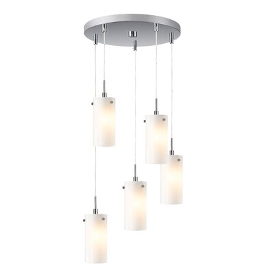 Cheyanna 5-Light Mini Pendant Cluster Finish: Satin Nickel