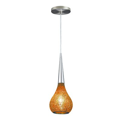 Torine 1-Light Mini Pendant Shade Color: Amber