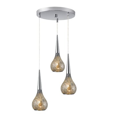 Torine 3-Light Mini Pendant Cluster Shade Color: Mirror