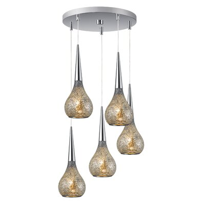 Torine 5-Light Mini Pendant Cluster Shade Color: Mirror