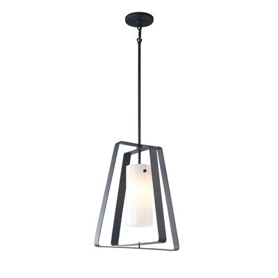 Twin 1-Light Foyer Pendant Shade Color: Faux Opal Glass