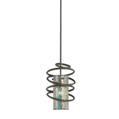 Loop 1-Light Mini Pendant Shade Color: Iridescent Mosaic