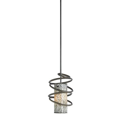 Loop 1-Light Mini Pendant Shade Color: White Mosaic