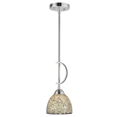 North Bay 1-Light Mini Pendant Finish: Satin Nickel, Shade Color: White Mosaic