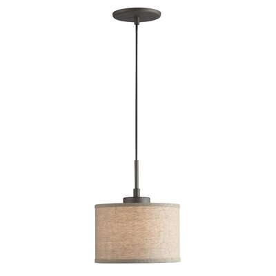 Keiser 1-Light Mini Drum Pendant Finish: Metallic Bronze, Shade Color: Beige Drum