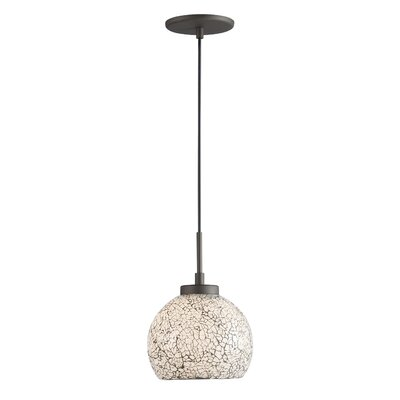 Keiser 1-Light Mini Drum Pendant Finish: Metallic Bronze, Shade Color: White Mosaic