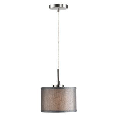Ceiling Cluster 1-Light Mini Drum Pendant Shade Color: Grey Drum, Finish: Satin Nickel