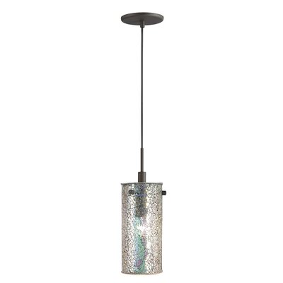 Ceiling Cluster 1-Light Mini Pendant Shade Color: Iridescent Mosaic, Finish: Metallic Bronze