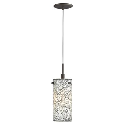 Keiser 1-Light Mini Pendant Finish: Metallic Bronze, Shade Color: White Mosaic