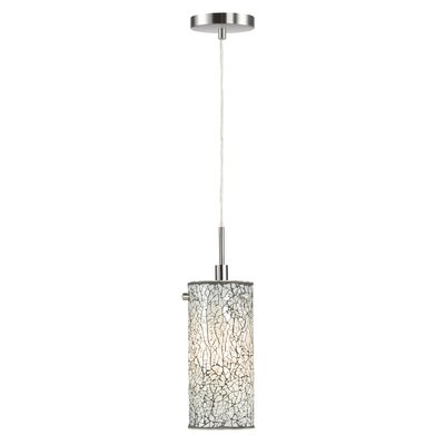 Keiser 1-Light Mini Pendant Finish: Satin Nickel, Shade Color: White Mosaic