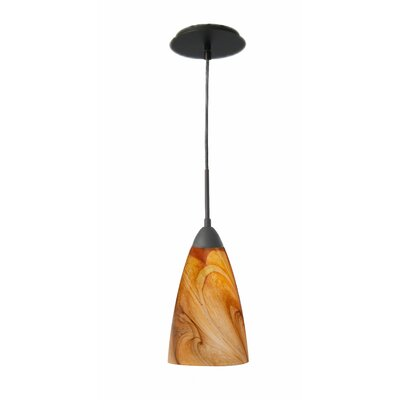 Art Glass 1-Light Mini Pendant Finish: Metallic Bronze, Shade Finish: Parchment