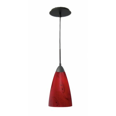 Art Glass 1-Light Mini Pendant Finish: Metallic Bronze, Shade Finish: Nova