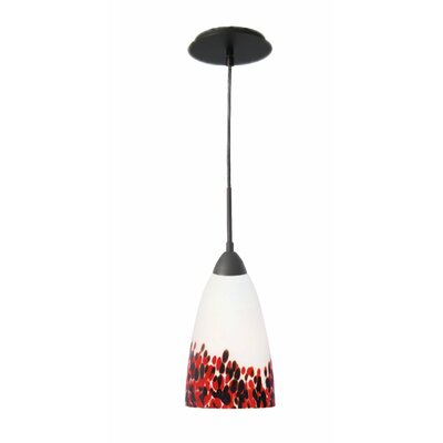 Art Glass 1-Light Mini Pendant Finish: Metallic Bronze, Shade Finish: Hiatus
