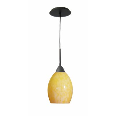 Art Glass 1-Light Mini Pendant Finish: Metallic Bronze