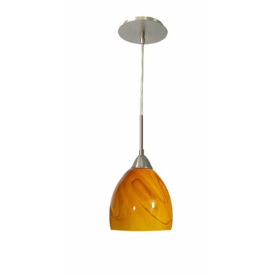Art Glass 1-Light Mini Pendant Finish: Satin Nickel