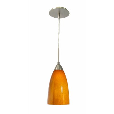 Art Glass 1-Light Mini Pendant Finish: Satin Nickel, Shade Finish: Spice