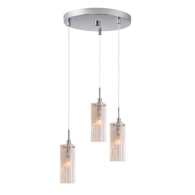 3-Light Mini Pendant Finish: Satin Nickel