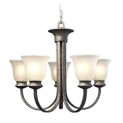 Dresden 5-Light Shaded Chandelier Finish: Greystone
