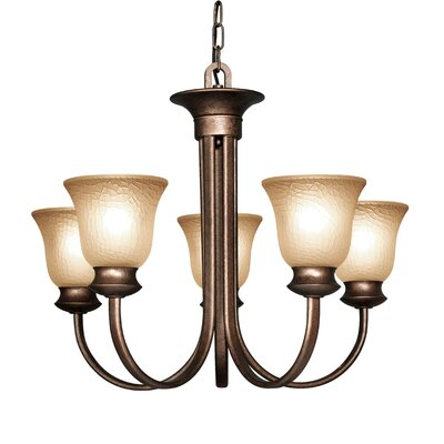Dresden 5-Light Shaded Chandelier Finish: Marbled Bronze