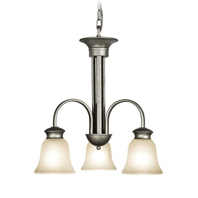 Dresden 3-Light Shaded Chandelier Finish: Greystone