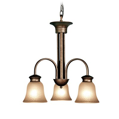 Dresden 3-Light Shaded Chandelier Finish: Marbled Bronze