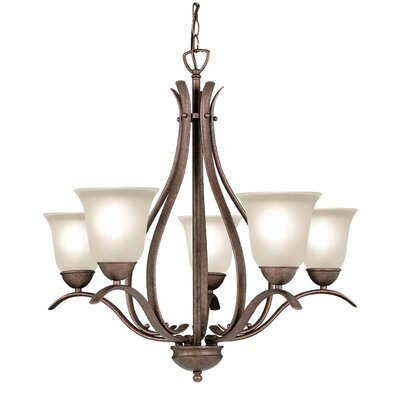 Beaconsfield 5-Light Shaded Chandelier Finish: Marbled Bronze