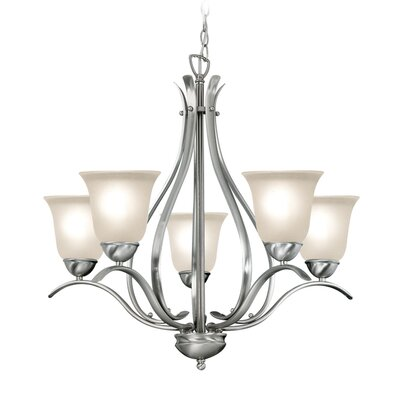 Beaconsfield 5-Light Shaded Chandelier Finish: Satin Nickel