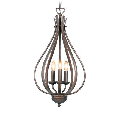 Savarese 3-Light Foyer Pendant Finish: Marbled Bronze