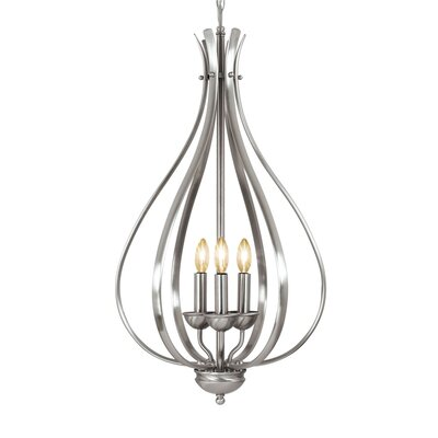 Savarese 3-Light Foyer Pendant Finish: Satin Nickel