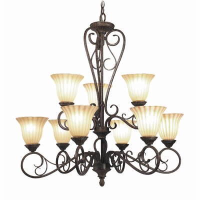 Avondale 9-Light Shaded Chandelier