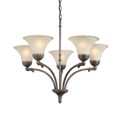 Darien 5-Light Shaded Chandelier