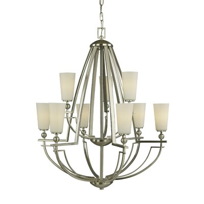 Aurora 9-Light Shaded Chandelier