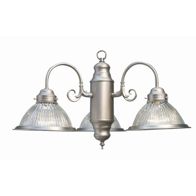 Basic 3-Light Shaded Chandelier Finish: Satin Nickel