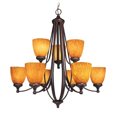 Kenshaw 9-Light Shaded Chandelier