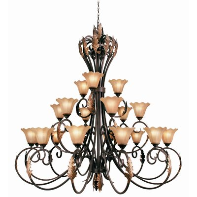 Harrington 21-Light Shaded Chandelier