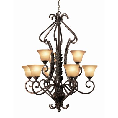 Weitzman 9-Light Shaded Chandelier