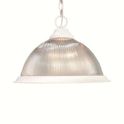 Basic 1-Light Pendant Finish: White