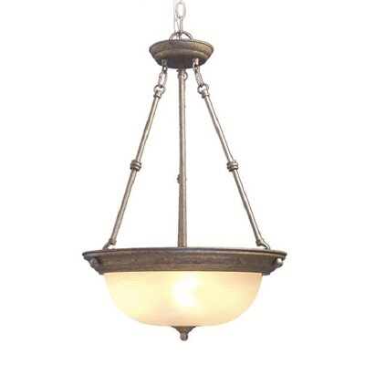 Basic 3-Light Pendant Finish: Greystone