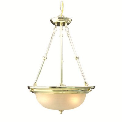 Basic 3-Light Pendant Finish: Polished Brass