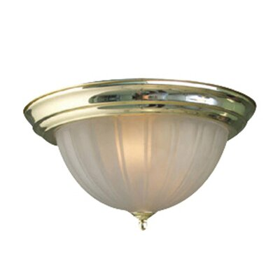 Basic 1-Light Flush Mount Finish: Polished Brass