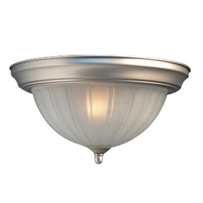 Basic 1-Light Flush Mount Finish: Satin Nickel