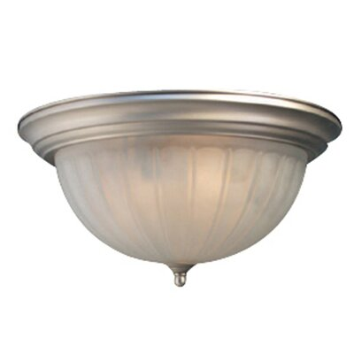 Basic 3-Light Flush Mount Finish: Satin Nickel