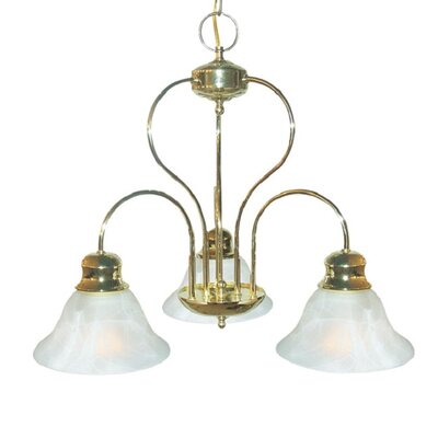 Interior Complements 3-Light Shaded Chandelier Finish: Polished Brass