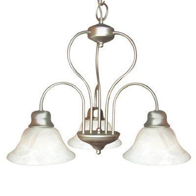 Interior Complements 3-Light Shaded Chandelier Finish: Satin Nickel