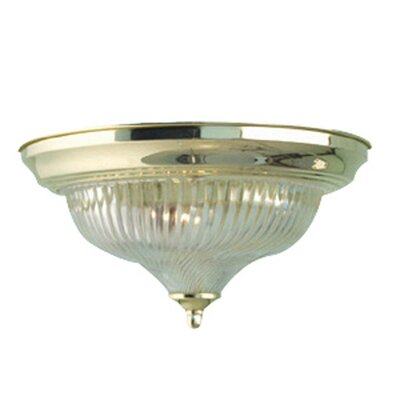 Interior Complements 1-Light Flush Mount Finish: Polished Brass