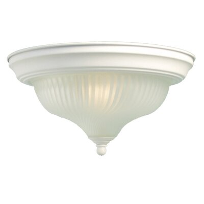 Interior Complements 1-Light Flush Mount Finish: White