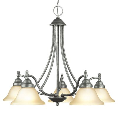 Anson 5-Light Shaded Chandelier Finish: Greystone