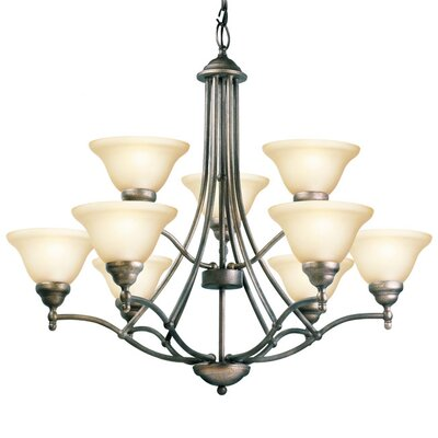 Anson 9-Light Shaded Chandelier