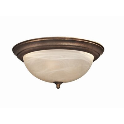 Anson 2-Light Flush Mount Finish: Marbled Bronze