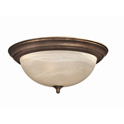 Anson 3-Light Flush Mount Finish: Marbled Bronze